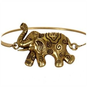 Elephant Clasp Bangle bracelet